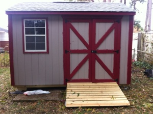 The new shed