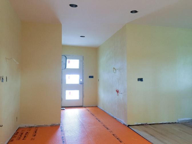Kitchen floor in orange
