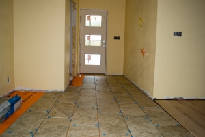 Tile laid without mortar